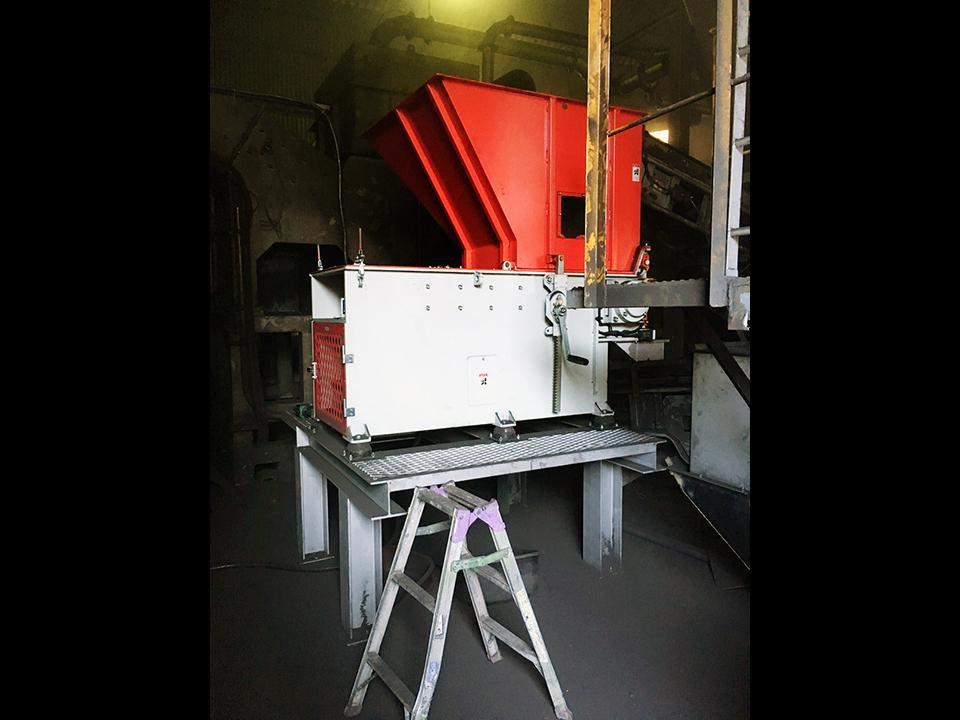 一軸破砕機 DS2260 納品風景
